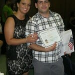 Buddy with his citizenship certificate