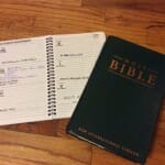 My Bible and date book. One brings freedom, the other enslaves - if I let it.