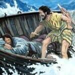 Jesus asleep