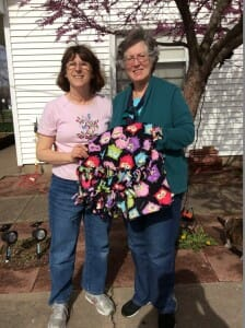 Thanks to my friend Pam who started me on the idea of prayer blankets as a tool to let children know we are praying for them.