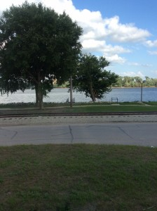 Our view from The Big Muddy restaurant.
