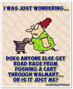 Walmart road rage