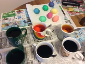 I love to dye Easter eggs!