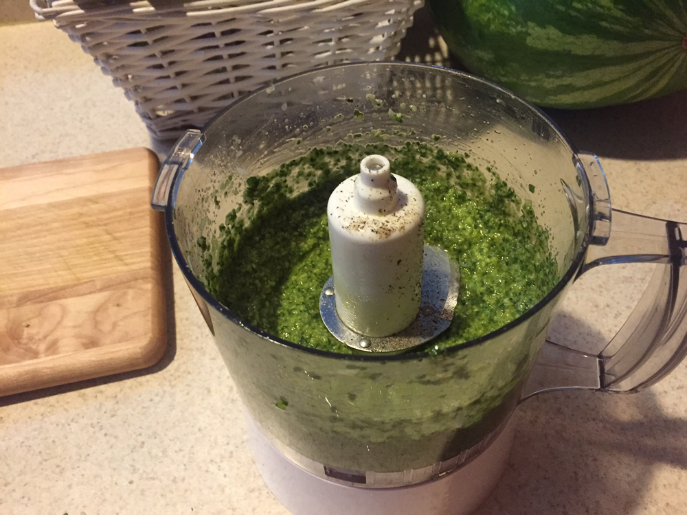 Delicious Homemade Basil Pesto