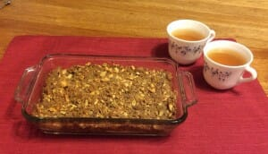 Apple Crisp with jasmine tea - a wonderful combo!