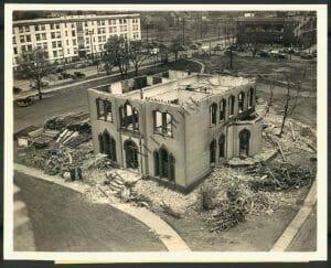 Demolition of the Rockefeller Mansion