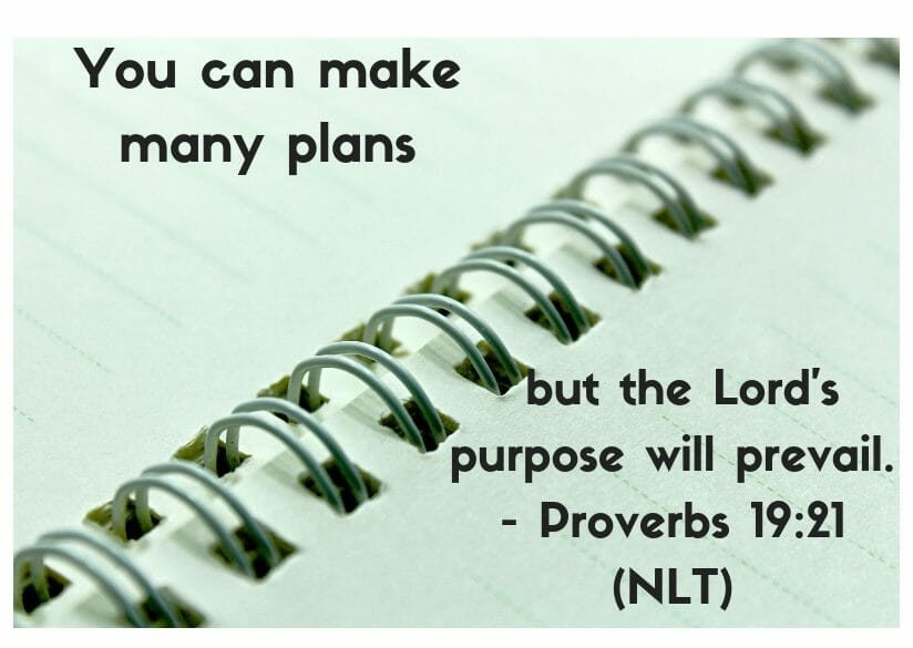 Proverbs 19:21 - You can make many plans