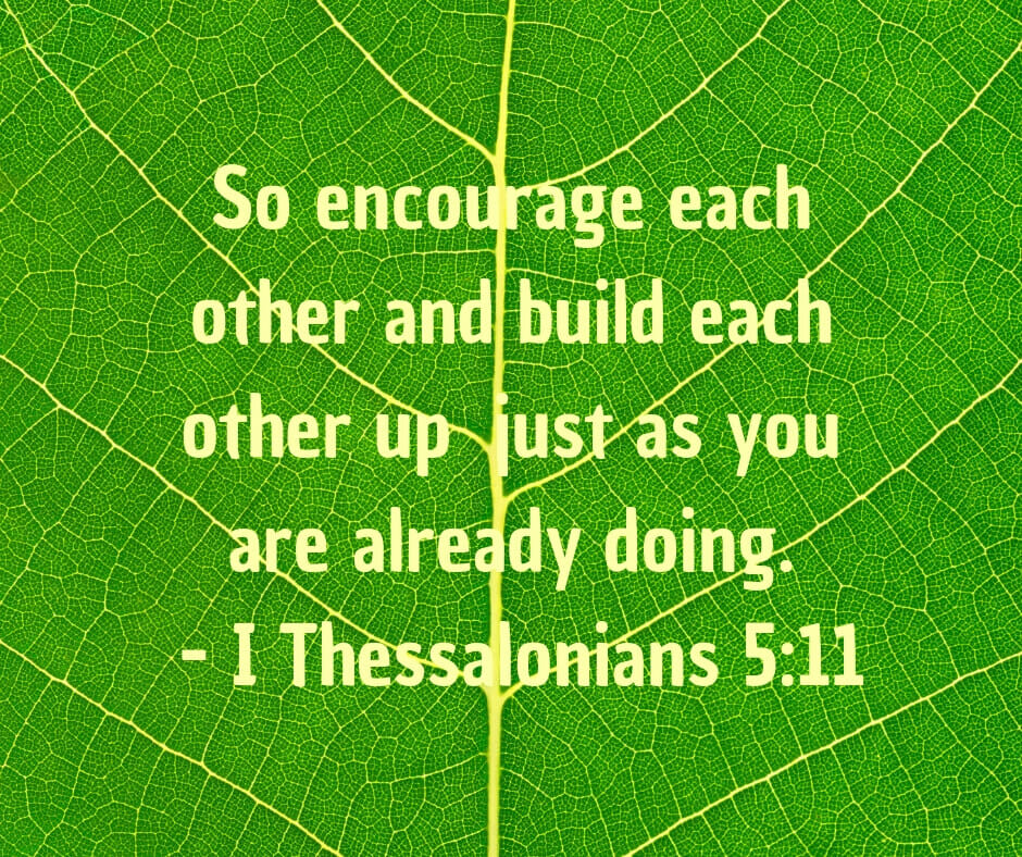 Church life - encourage one another