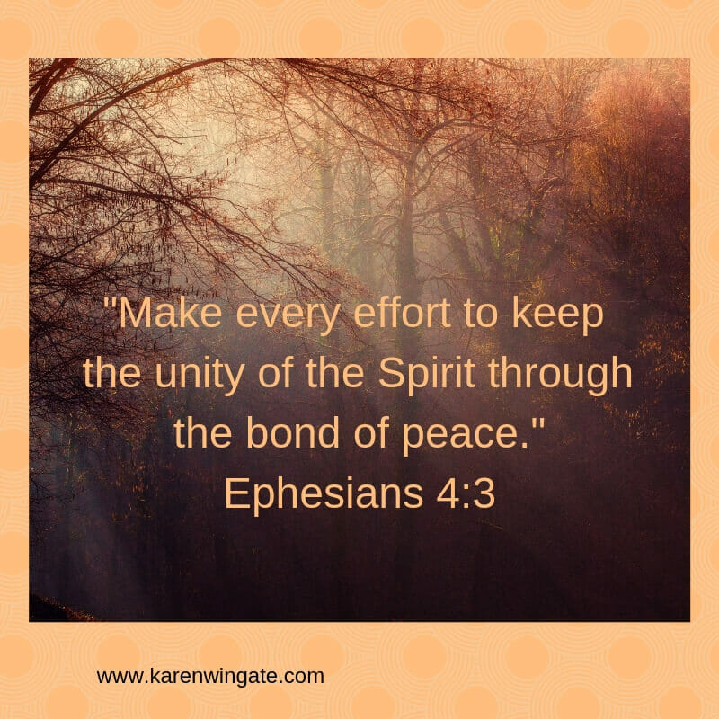 Keep the Unity - Ephesians 4:3