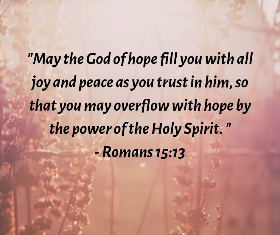 Romans 15:13 - God of hope