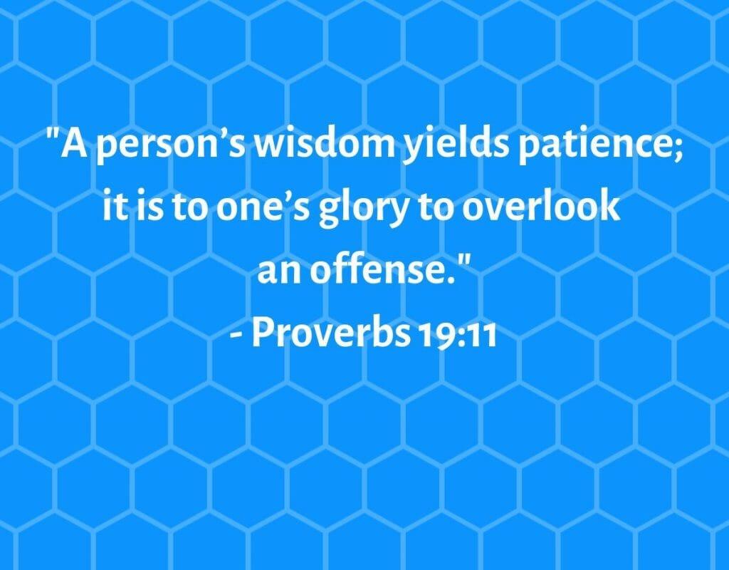 Proverbs 19:11