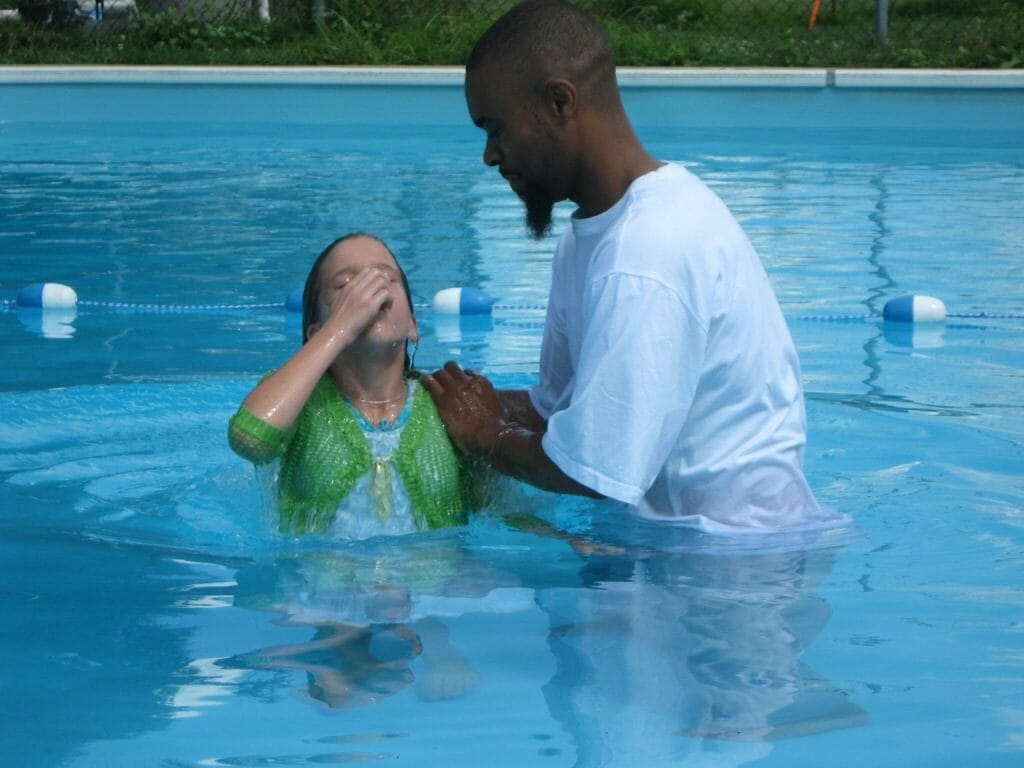 Seeing someone accept Christ in baptism is a thrilling moment.