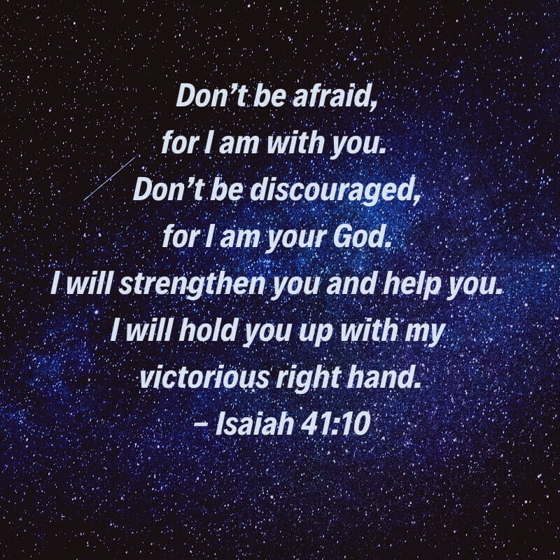 Words from Isaiah 4:10