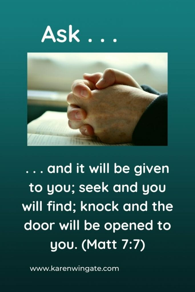 Divine Interventions: Ask and it will be given to you; seek and you will fine; knock and the door will be opened to you. (Matthew 7:7)